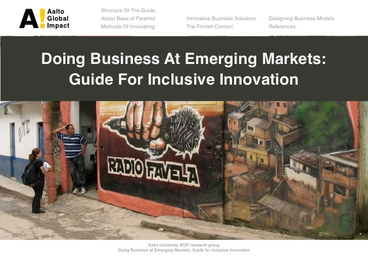 Guidebook on inclusive innovation for bop markets final