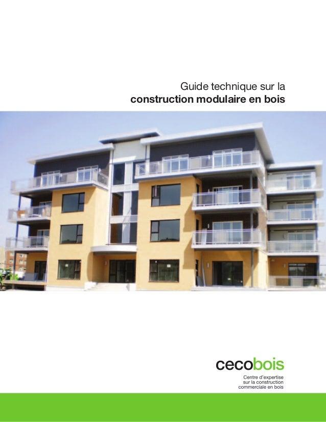 Guide technique sur la construction modulaire en bois