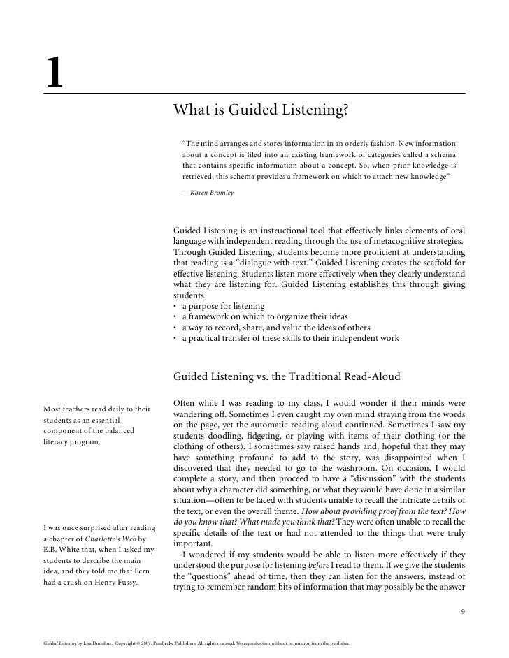 Guided Listening