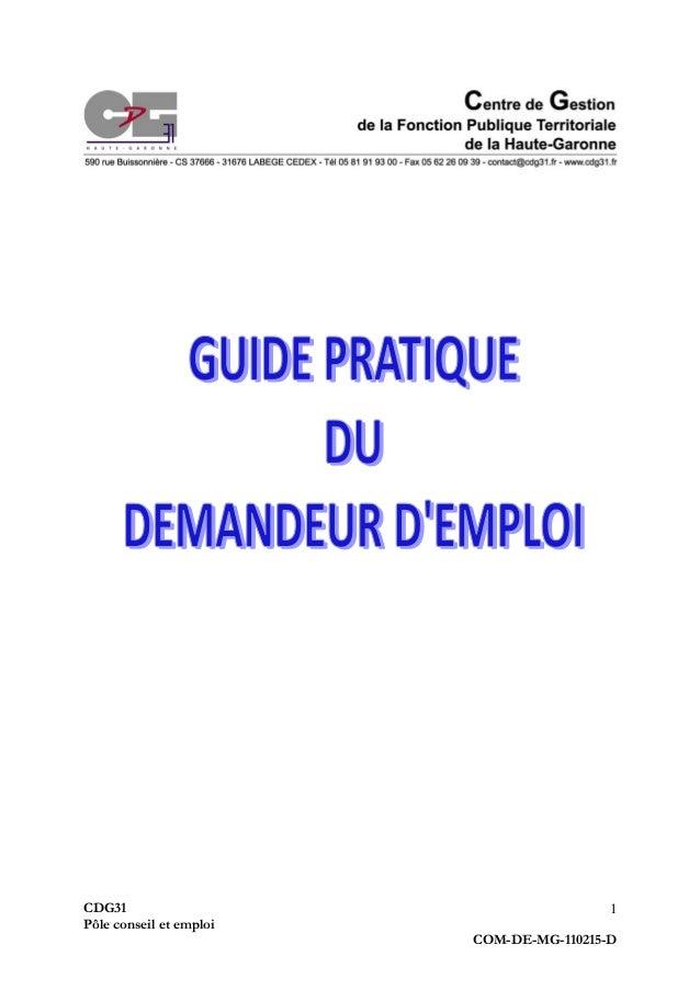 CDG31 Pôle conseil et emploi COM-DE-MG-110215-D 1