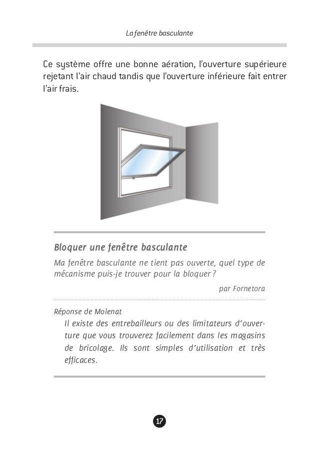 Guide de la fen tre for Bloquer ouverture fenetre