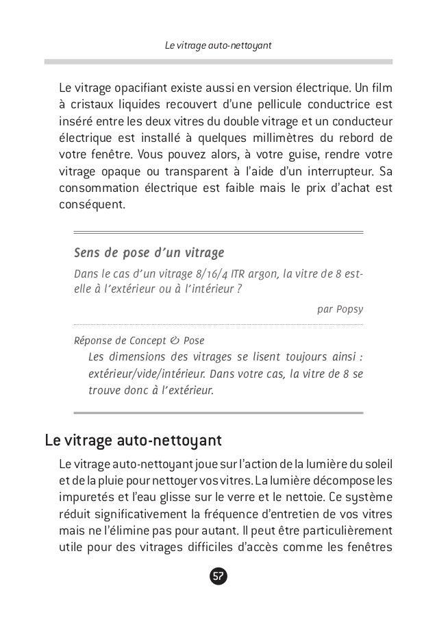 Guide de la fen tre for Rendre une vitre opaque