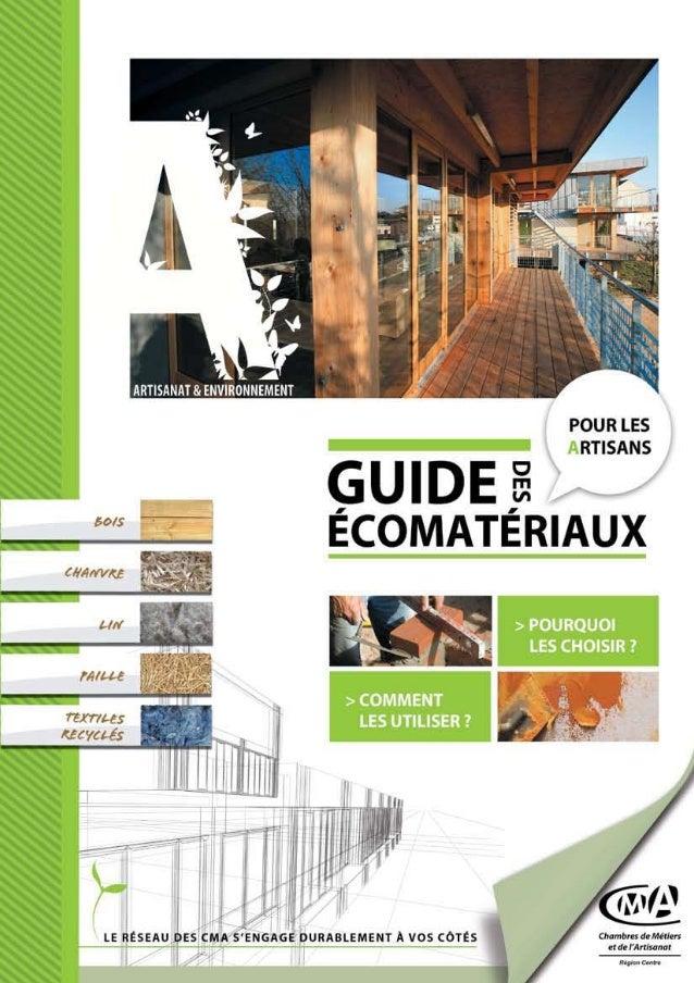 Guide des écomatériaux  - CRMA