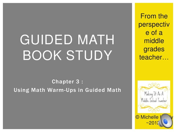 Making It As A Middle School Teacher's Guide Math Review: Chapter 3 ~ Warm-Ups