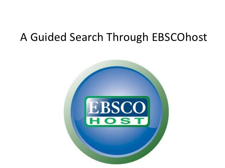 A Guided Search Through EBSCOhost
