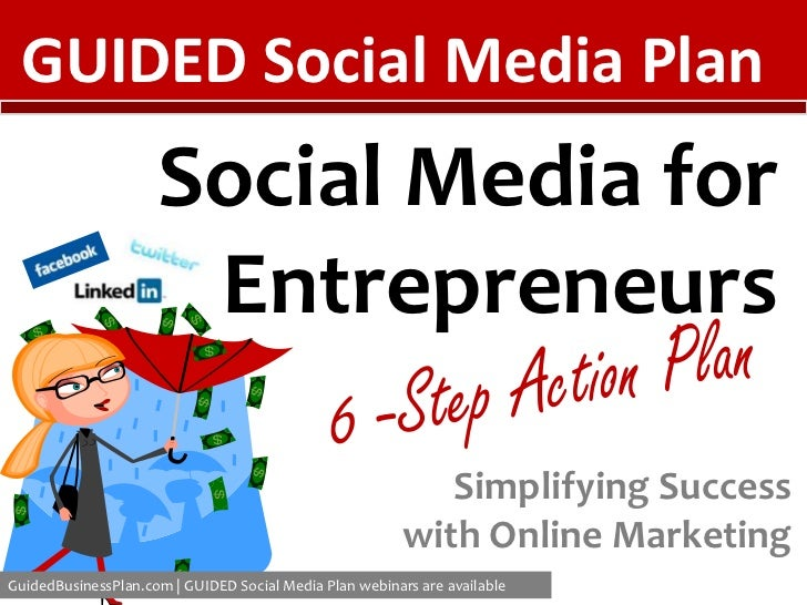 GUIDED Social Media Plan<br />Social Media for Entrepreneurs<br />6 -Step Action Plan<br />Simplifying Success with Online...