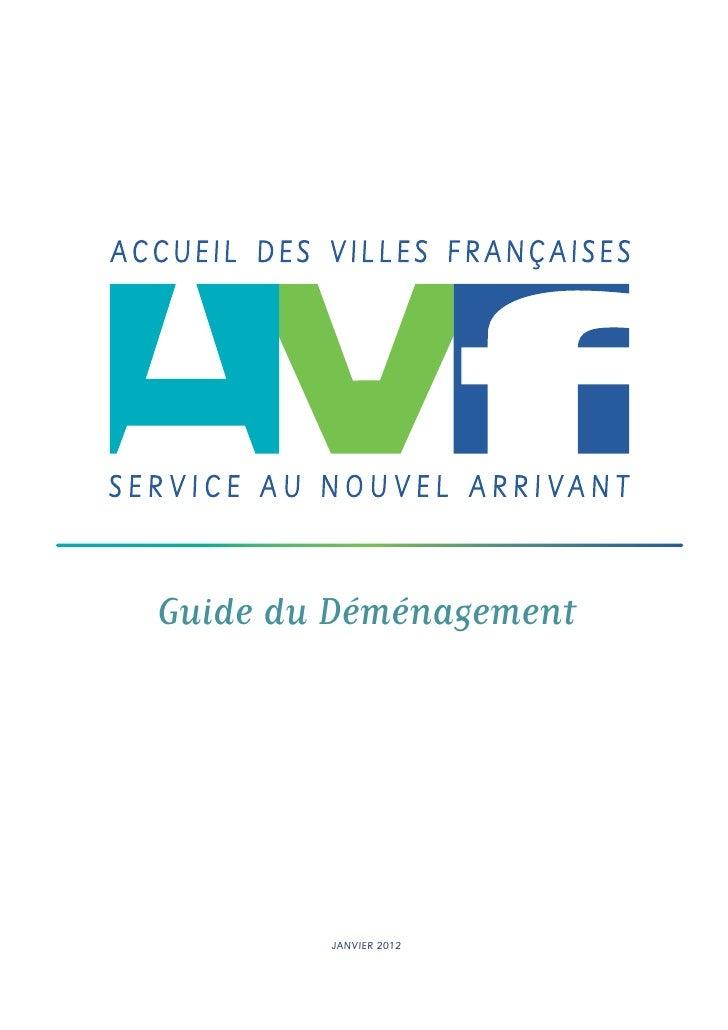 Guide du Déménagement                   JANVIER 2012