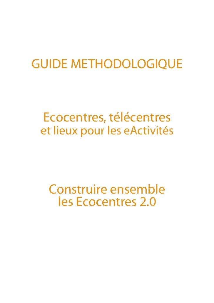 Guide ecocentres