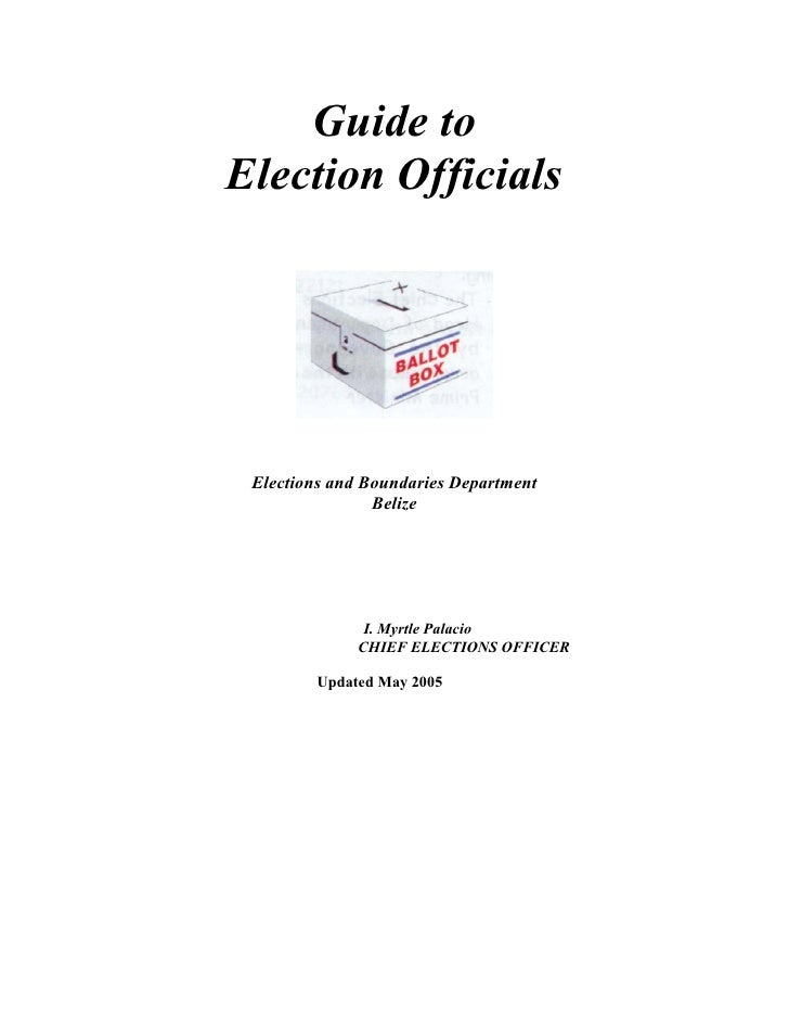 Guide for election officials  -updated  feb 2008