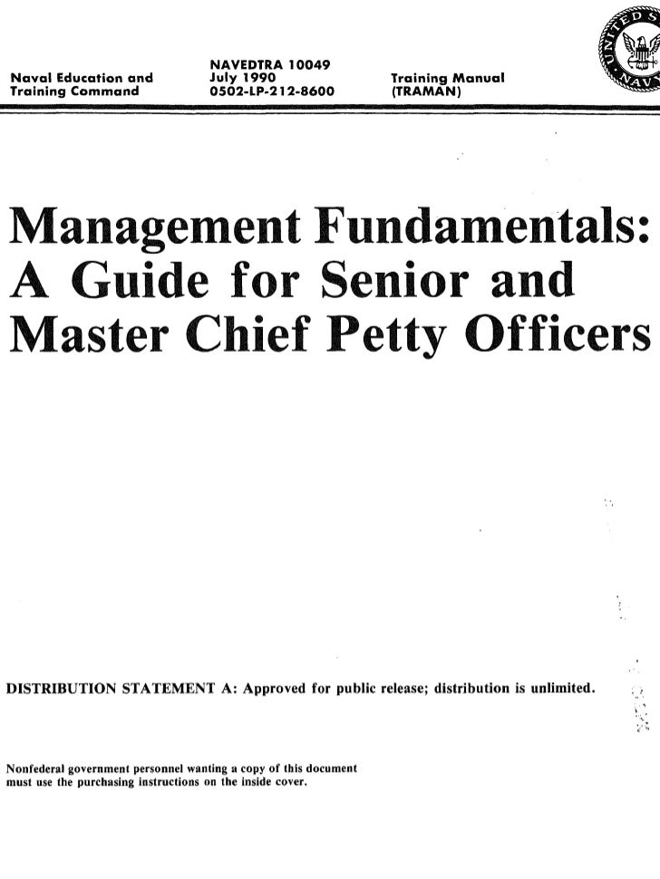Guide for Senior & Master Chief (NAVEDTRA 10049)