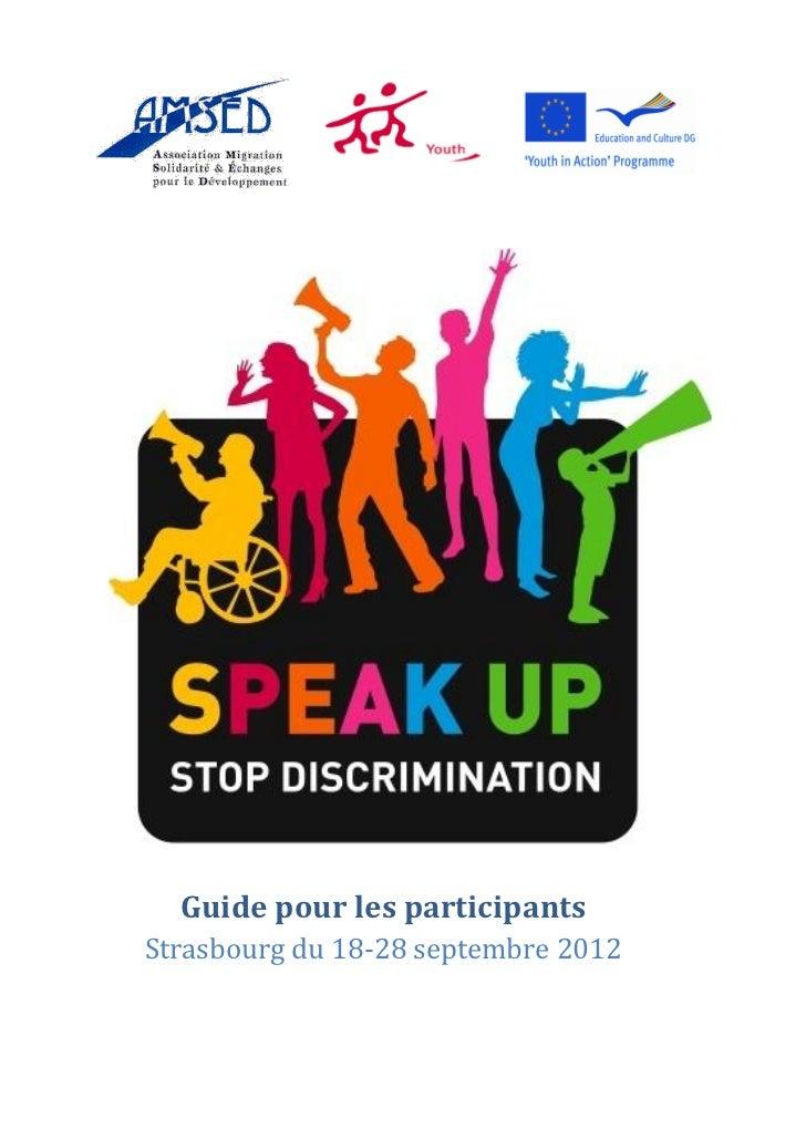 Guide pour les participantsStrasbourg du 18-28 septembre 2012