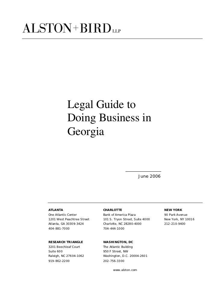 Legal Guide to            Doing Business in            Georgia                                                     June 20...