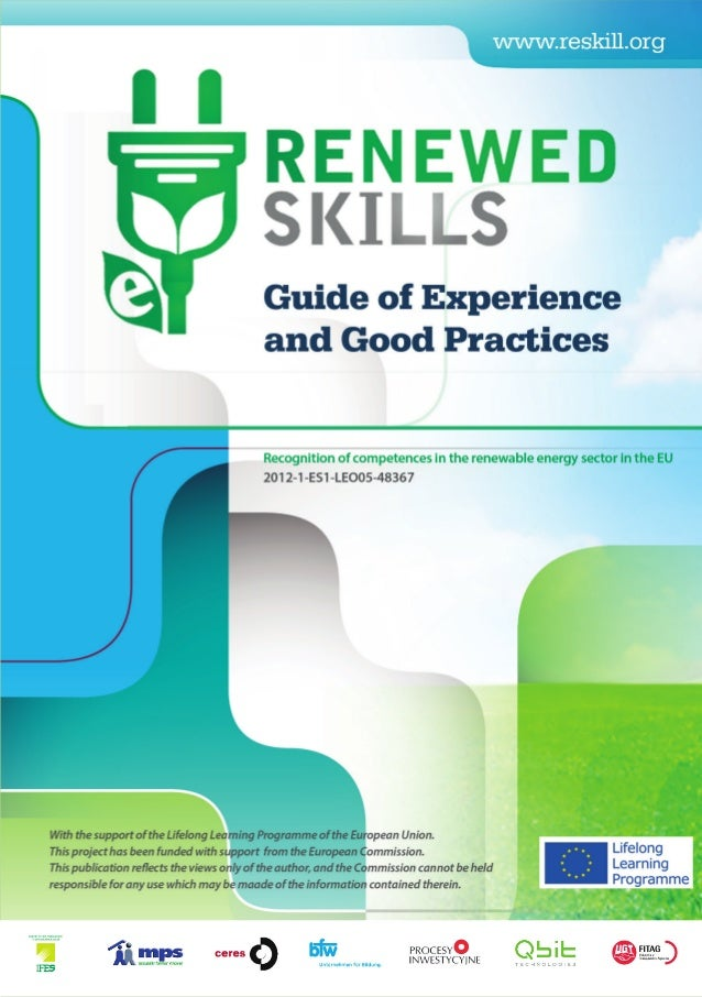 Guide good practices and experiences renewable energy