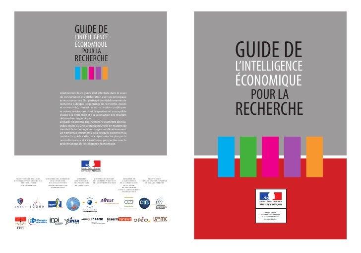 Guide intelligence économique pour la recherche 2012