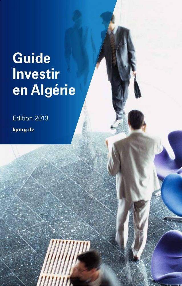 Guide : Investir en Algérie (2013)