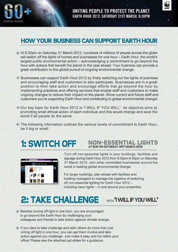 Guideline earth hour 2012    english