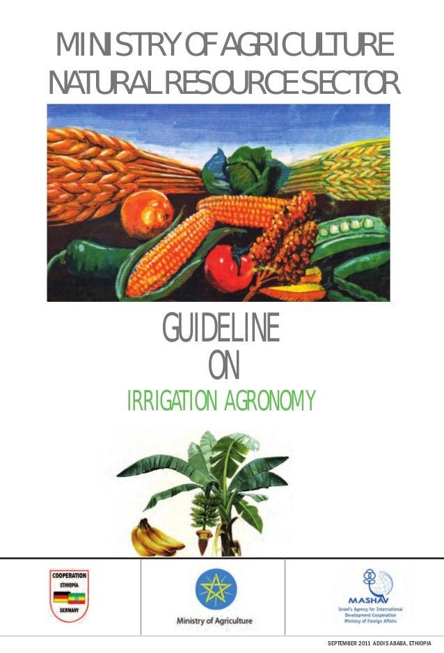 Guideline on Irrigation Agronomy - Ethiopia, 2011
