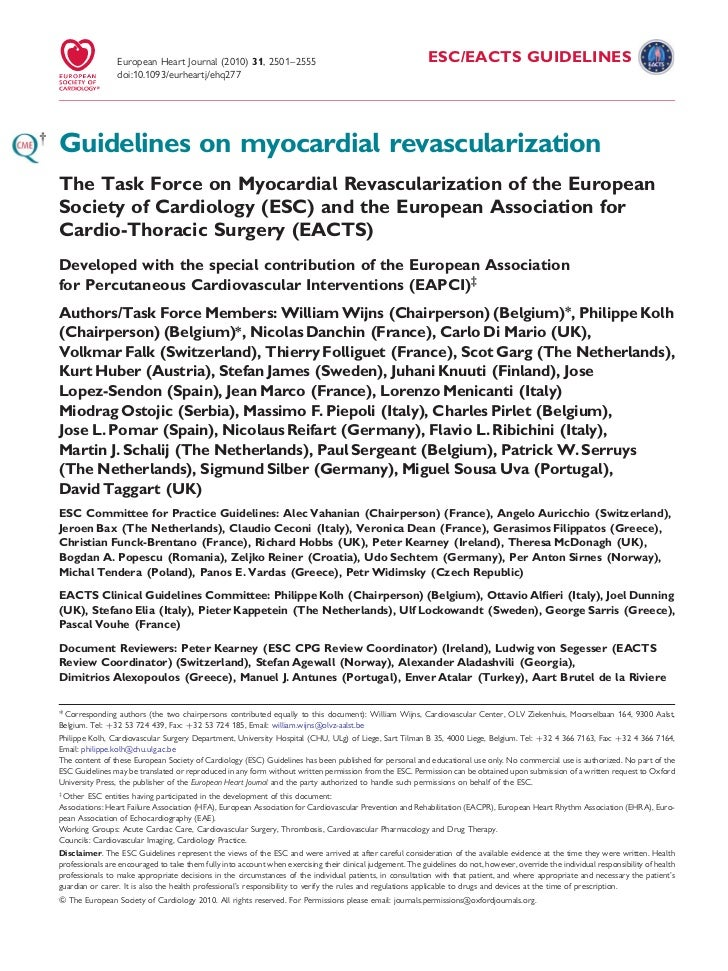 Guidelines revasc-ft