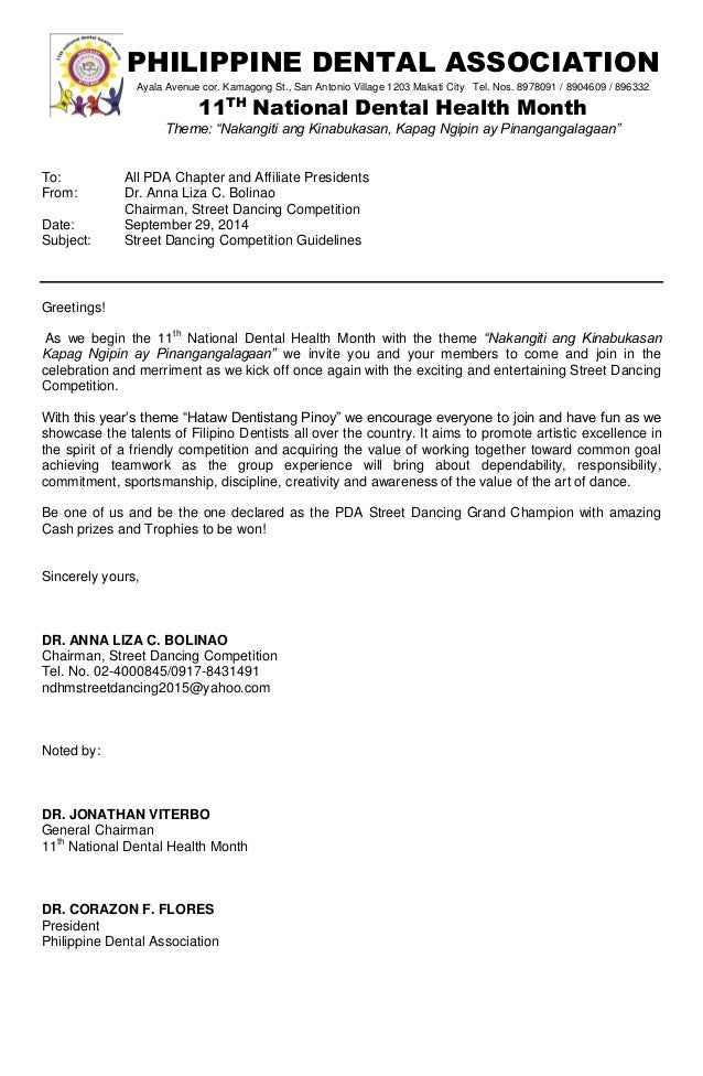 Pda Ndhm Street Dancing Competition Guidelines