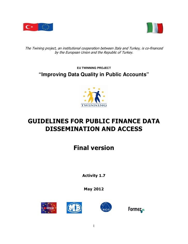 Guidelines for Public Finance Data Dissemination and Access