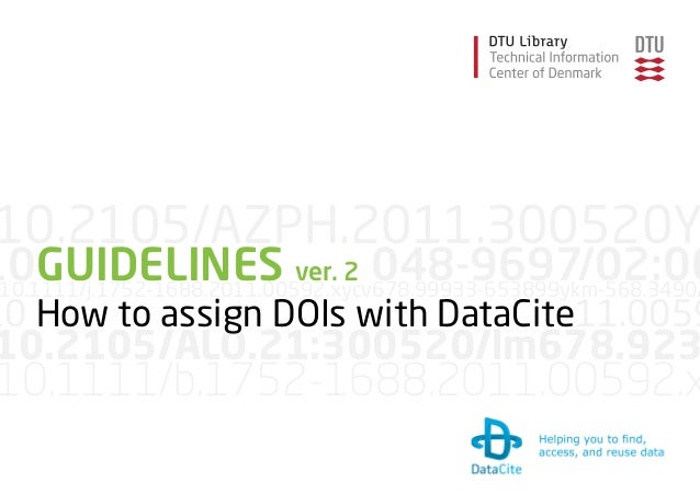 Guidelines DataCite Denmark 2014