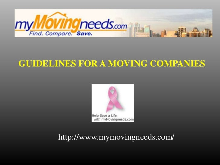 Guidelines for a moving companies