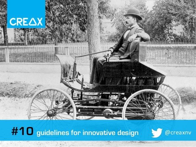 Guidelines for good innovative design