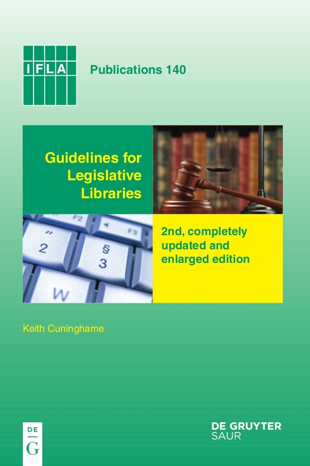 ifla140_cover.qxp  20.11.2009  11:13  Seite 1  IFLA 140  The Author is a former staff member of the UK House of Commons Li...