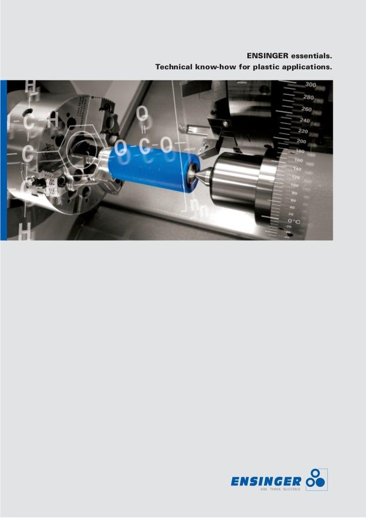 Guidelines for machining   ensinger