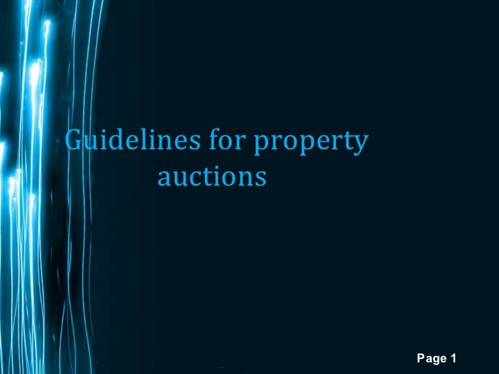 Guidelines for property auctions