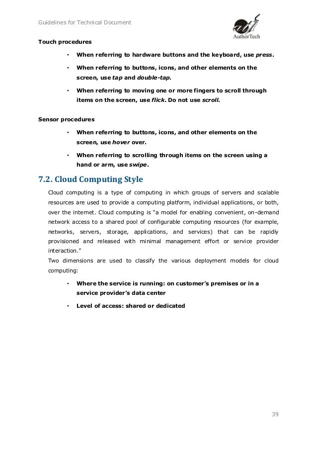technical writing documents There are many different types of technical documents which technical document you choose to create depends on your audience and your purpose.