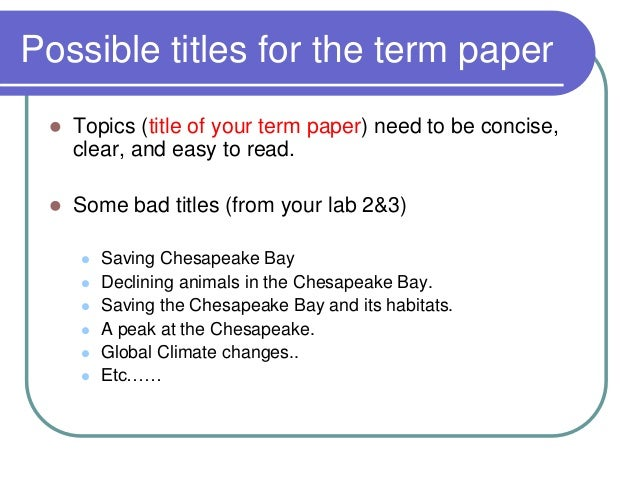 how is a term paper written