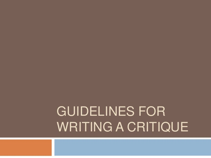 Guidelinesforwritingacritique