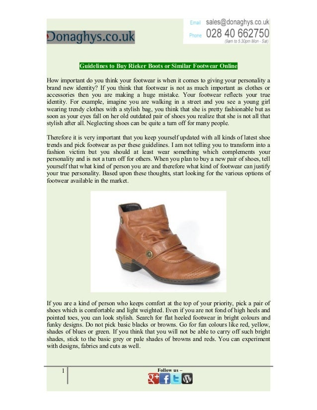 Guidelines to buy rieker boots or similar footwear online