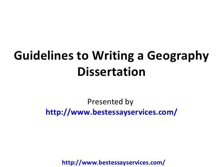 Dissertation In Physical Geography