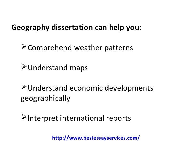 Dissertation geography methods