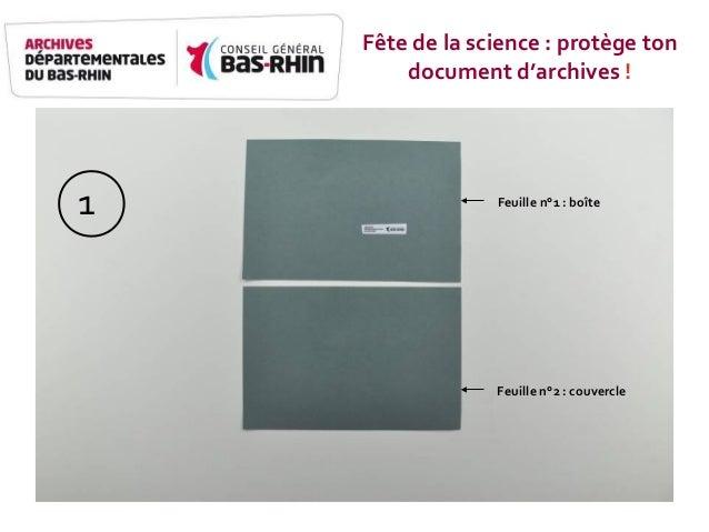 Feuille n°1 - boîte Feuille n°2 - Couvercle Feuille n°1 : boîte Feuille n°2 : couvercle 1 Fête de la science : protège ton...