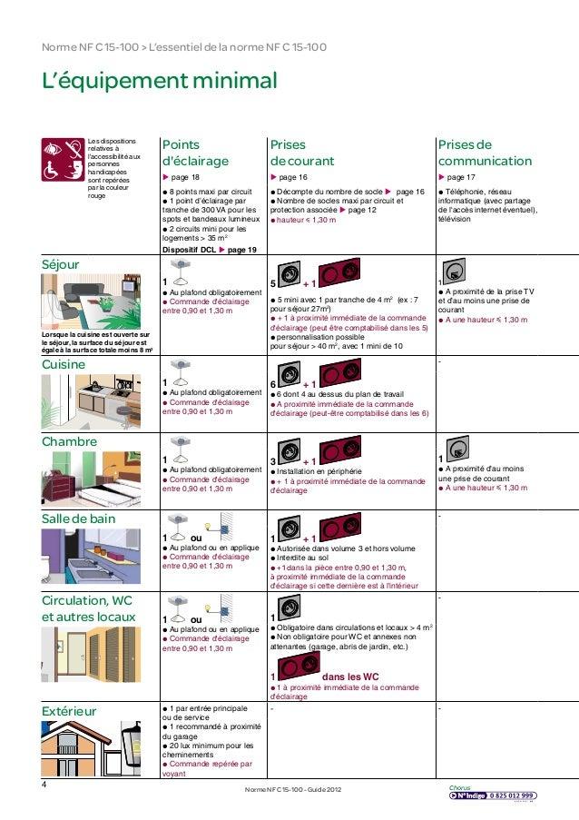 Guide nfc 15 100 - Norme electrique nfc 15 100 ...