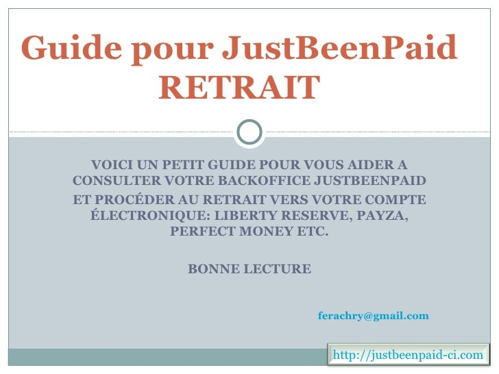 Guide pour just beenpaid ci 2 retrait