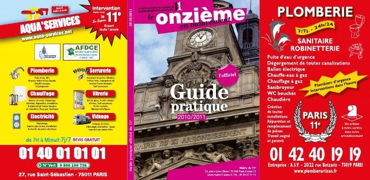 Guide pratique Mairie du XIe arrondissement de Paris