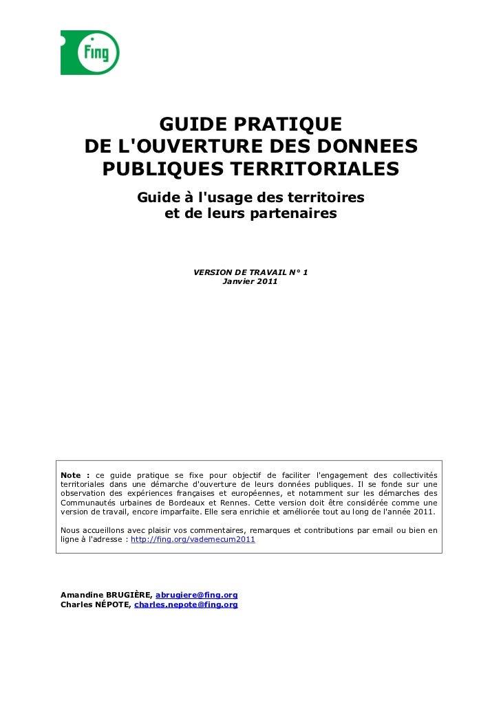 Guide pratique des donnees publiques v1 beta