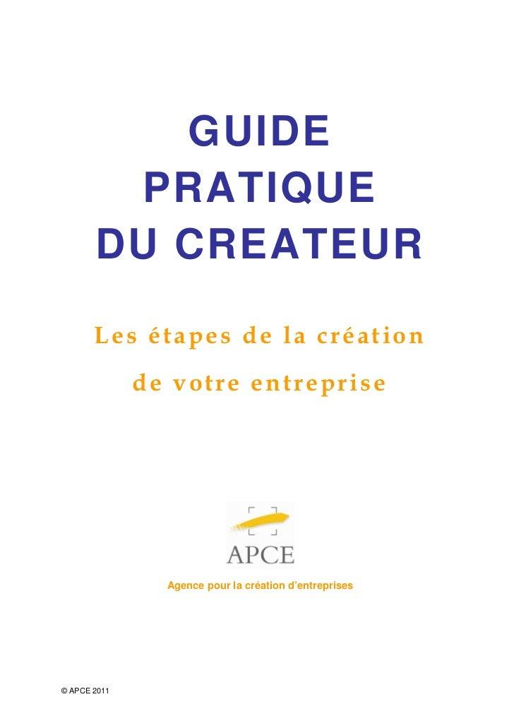 Guide pratique du_createur_2011_apce