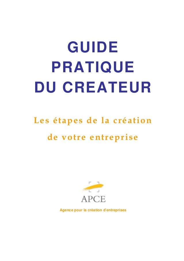 Guide pratique du créateur d'entreprise 2014