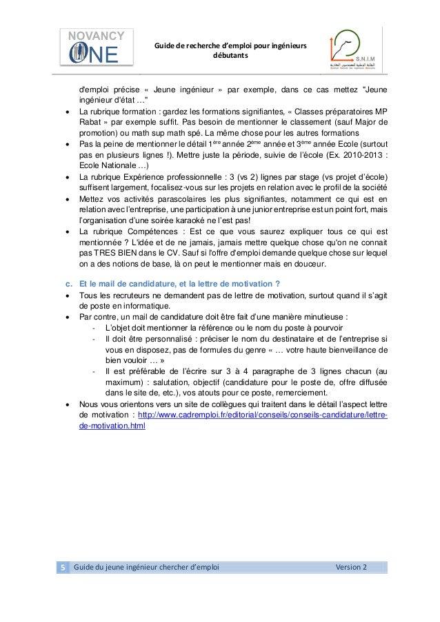 guide pratique de recherche d u0026 39 emploi pour ing u00e9nieurs