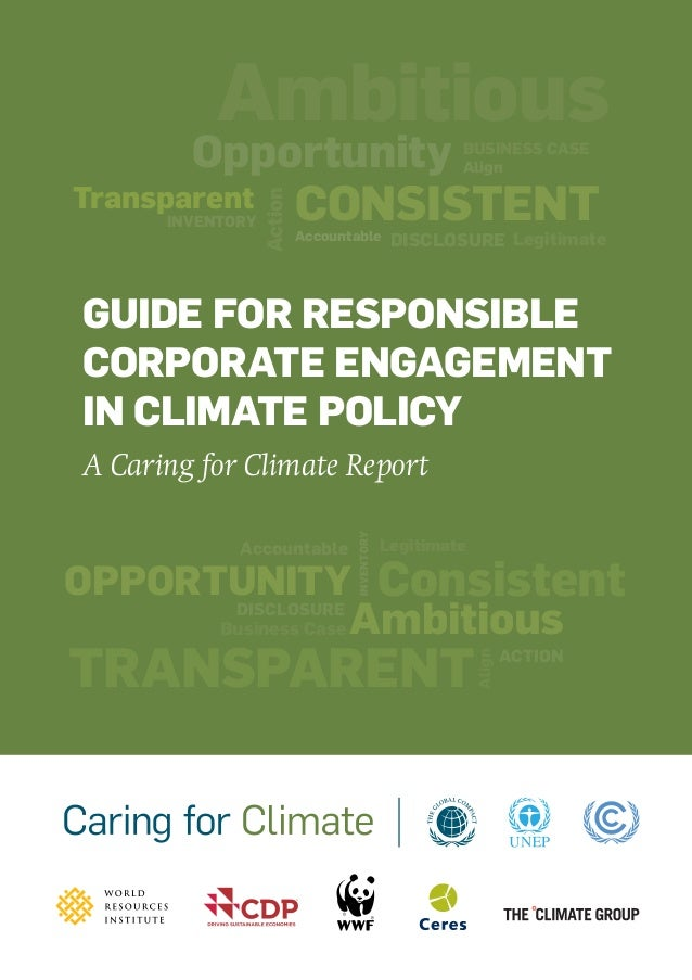 Guide for Responsible Corporate Engagement in Climate Policy