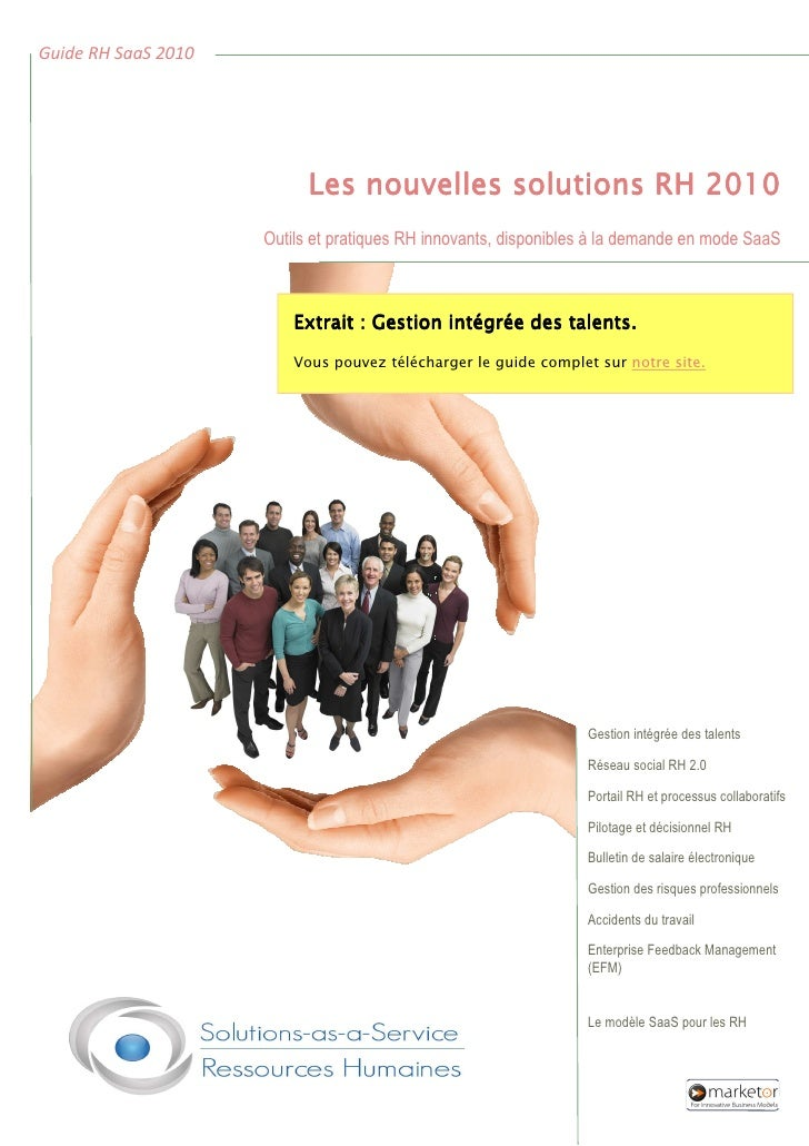 Guide SaaS RH 2010 Gestion Integree Des Talents