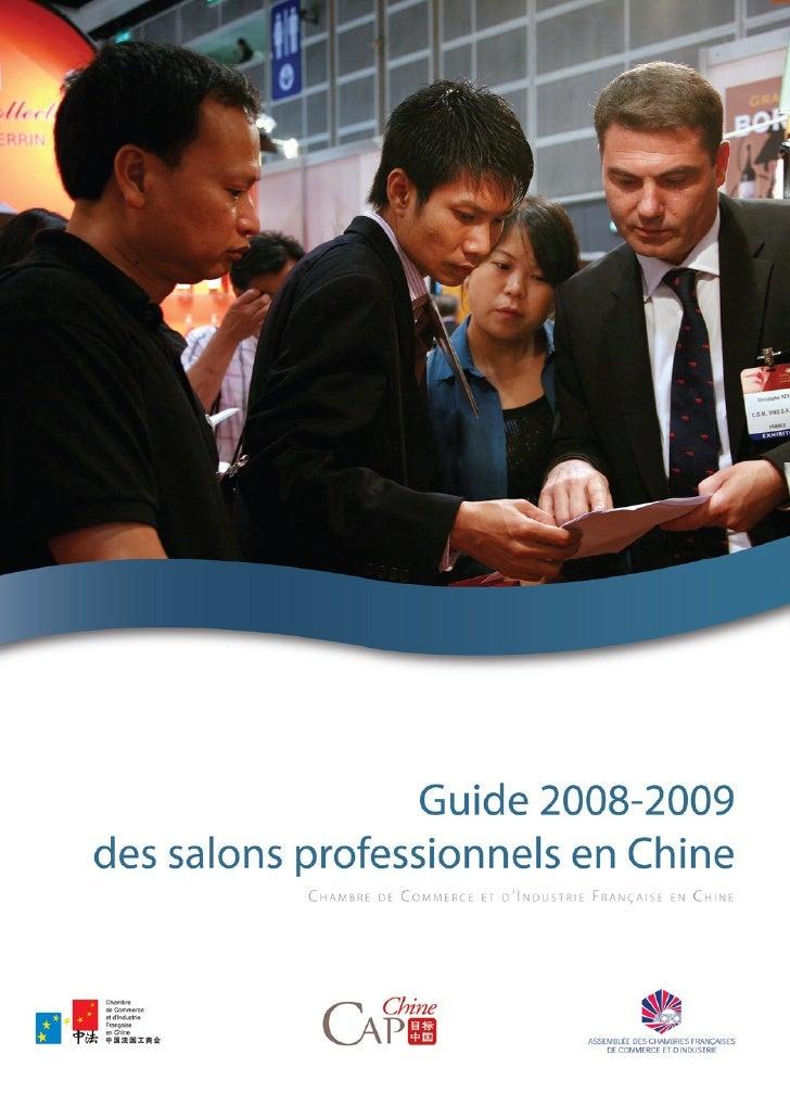 Guide des salons 2008-2009 en Chine