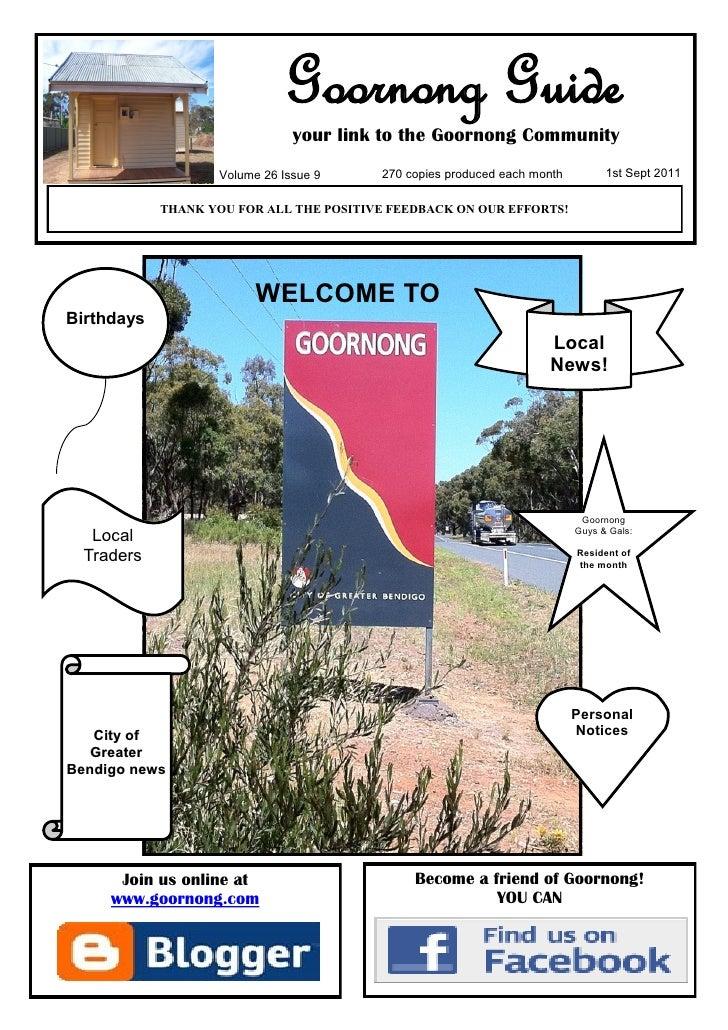 Goornong Guide - Sept 2011