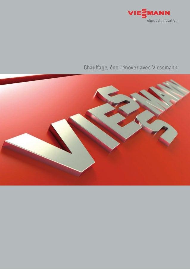 climat d'innovation Chauffage, éco-rénovez avec Viessmann
