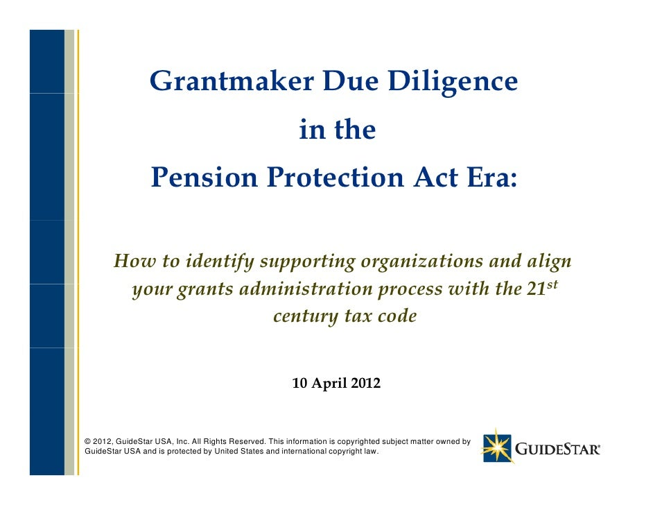 Grantmaker Due Diligence                                    g                                                         in t...